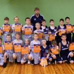 U11 vecuma grupas abas «BS Ogre» komandas – 1. un 2.vietas laureātes.