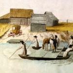 Pārceltuve pār Ogres upi 1796.gadā.